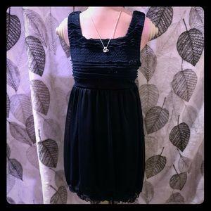 Bonnie Jean formal sleeveless sequin dress navy
